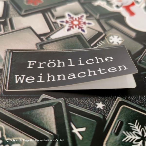Aufkleberkarte für Weihnachten