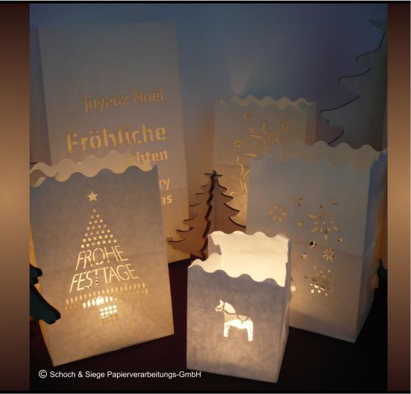 Weihnachtliche Motive Lichttüten